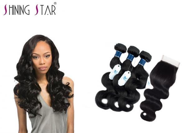Quality Tangle Free Unprocessed Virgin Remy Indian Hair / No Acid Unprocessed Indian Remy Hair for sale