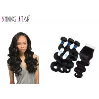 China Tangle Free Unprocessed Virgin Remy Indian Hair / No Acid Unprocessed Indian Remy Hair wholesale