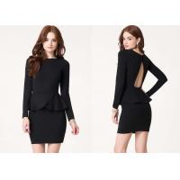China Chic Open Back Women Cute Clubbing Dresses With Long Sleeves wholesale