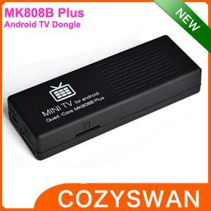 China MK808B Plus Amlogic android mini pc media player quad core 1+8GB wholesale