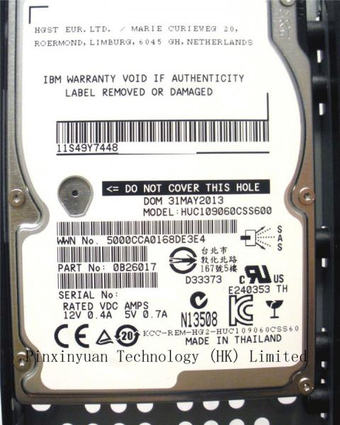 "Quality IBM STORWIZE V7000 600GB 10K 2.5"" 6Gb SAS for  00Y2683 / 00D5302 / 85Y6268 for sale"