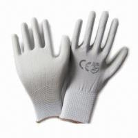 China PU Coated Working Gloves with Anti-oil and Grease  on sale