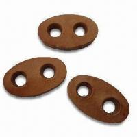 China Leather Buttons with Hand Sewed, Made of 100% PU wholesale