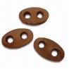 Buy cheap Botones de cuero con la mano cosida, hecho de PU 100% from wholesalers