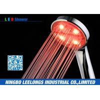 China Red LED Rain Shower Head Handheld Shower Without Battery For Bathroom on sale