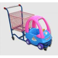 China Cozy Coupe Metallic Kids Caddy Supermarket Shopping Cart For Grocery wholesale
