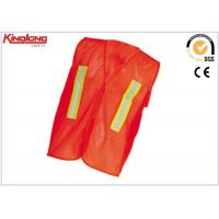 China All polyester knitting Reflective Safety Vest mesh poly fabric Red Yellow Orange on sale