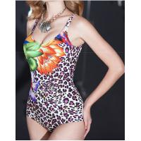 China high quality Leopard print conservative one-piece  plus-size swimsuit  for women  Triangle one-piece wholesale