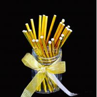 Quality Food Grade Gold Blocking Coloured Paper Straws , Decorative Drinking Straws Pass for sale