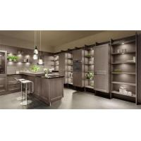 China Gray Solid Wood Kitchen Cabinets / Full Kitchen Cabinet Set Adjustable Legs wholesale