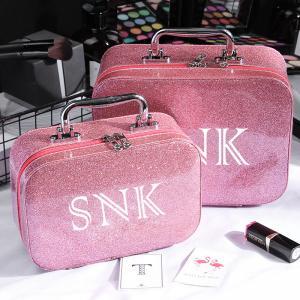 China Ladies Waterproof Zipper Closure Glitter Makeup Bag Case wholesale