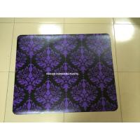 China Recycled Purple Chair Floor Mats Home / Office , Non Studded Chair Mat wholesale