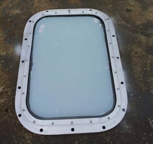 China Brass Fixed Rectangular Marine Glass Windows , Custom Marine Windows wholesale