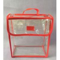 China Red Clear Sewing PVC Clear Gift Bags With Handle For Chocolate / Cookie / Sugar Packaging wholesale
