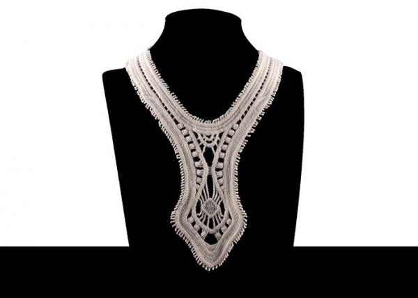 Quality Retro 100% Nature Cotton Bridal Appliques And Trims With Round Neck For Prom Dress for sale