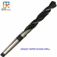 China Roll Forged DIN345 HSS Morse Taper Shank Drill Bit For Metal Drilling on sale