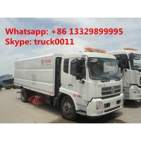 China hot sale dongfeng tianjin street sweeper truck(3cbm water tank+7.2cbm dust bin), best price road cleaning truck for sale on sale