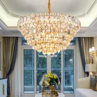 Buy cheap Suspension crystal luminaire Gold Hanging Lamp For Living room Sitiing room from wholesalers