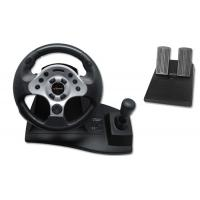 China Computer USB Video Game Steering Wheel And Pedals With Suction Cups wholesale