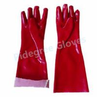China Long Sleeve PVC Household Gloves With Smooth Surface For Dish Washing on sale