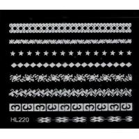 China HL-220 White Lace 3D Nail Sticker Nail Art Decals Decoration wholesale