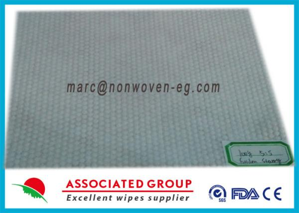 Quality Viscose Polyester Spunlace Nonwoven Fabric Hot Melt Big Dot Pattern for sale