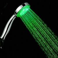 China ABS Shower Head with LED Lights and CE/RoHS Marks, Several Colors Change According to Temperature wholesale