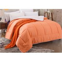 China Pinted Stripe Microfiber Quilt Comforter Piping Frame Cutting Through wholesale