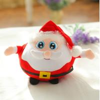 China 20cm Small Cute Red Animated Plush Christmas Toys Santa Claus White Beard Pattern wholesale