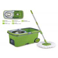China Lightweight Commercial 360 Spin Mop As Seen On Tv Mop And Bucket SS Pole wholesale