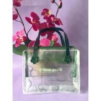 China Fashion Plastic Clear PVC Tote Bag , Frosted Heat Seal PVC Zipper Bag With Flower wholesale