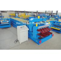 China High Frequency Double Layer Glazed Tile Roll Forming Machine With 15 / 21 Rows wholesale