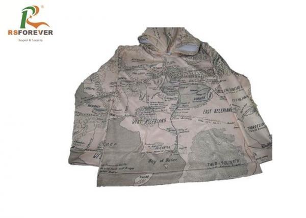 Quality Mens Grey Camo Hooded Sweatshirt Jacket Long Sleeve Fleece Sweat Suits for sale