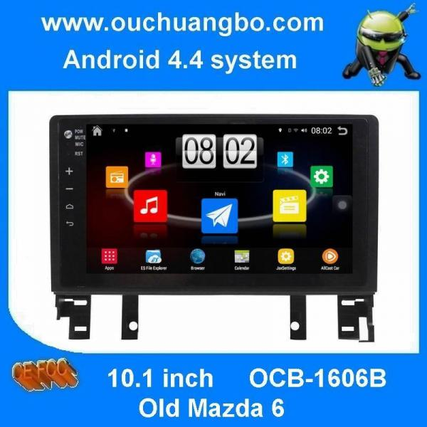 Quality Ouchuangbo android 4.4 car stereo dvd radio for Old Mazda 6 suppoer 3188 Cortex A9 Quad core 3G wifi BT USB for sale