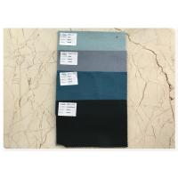 China Durable Ventilated Double Faced Wool Fabric Soft With Light Haze Blue 70 Wool wholesale