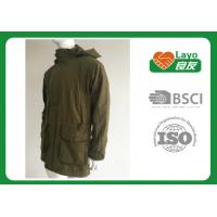 China Olive Color Waterproof Shooting Jacket 100% Polyester Windbreak Thermal For Men wholesale
