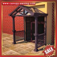 China outdoor villa house patio gazebo porch door aluminum alu metal glass awning canopy canopies cover cabin shelter kits on sale