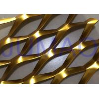 China 3D Anodized Expanded Aluminium Mesh, Gold Flattened Expanded Metal Screen Mesh wholesale
