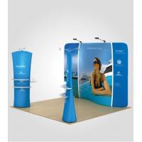 Stretch Fabric Trade Show Displays Retractable Banner Stands 8ft 10ft 20ft