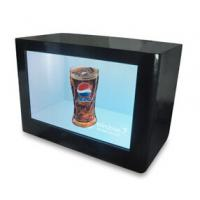 China 65 Inch Transparent LCD Display Box Play Ads For Cosmetic / Smart Phone wholesale