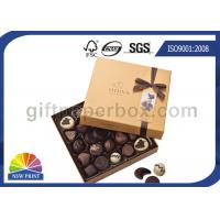 China High End Chocolate Packaging Box with Ribbon for Valentine's Day Gifts Packaging wholesale