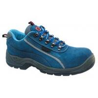 China Protection Feet Navy Blue Work Shoes , Low Cut Safety Shoes Chemical Resistant wholesale