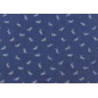 China Custom Woven Cotton Polyester Soft Denim Fabric Blue Color Plain Dyed Pattern wholesale