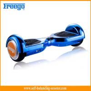 China Dual Wheel Self Balance Skate Board Blue Drift Style For Children wholesale