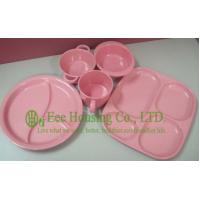 China Eco-friendly Bamboo Fiber Meal Box / Bowl /Cup/ Spoon for Children,Bamboo Fiber Dinnerware wholesale