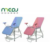 Pink Color Portable Gynecological Examination Table Hospital Use Light Weight