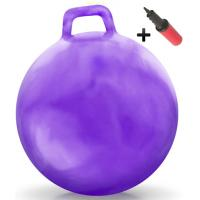 China Kids Inflatable Toy Bouncing Fitness Gym Jump Hopper Bouncy Ball With Handle on sale
