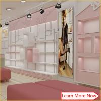 China Good quality commercial display wood furniture for shoe store decoration/shoe store fixtures wholesale