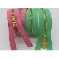 China Colorful Women Brass Metal Dress Zips Length Customized For Garments / Wallet wholesale