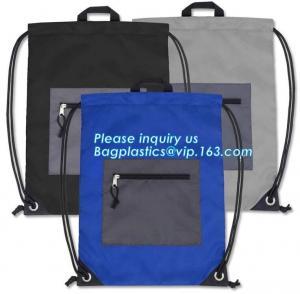 China Cheap Custom Wholesale Promotion Canvas Cotton Drawstring Bag, Waterproof Mini Nylon Polyester Drawstring Bag bagplastic on sale